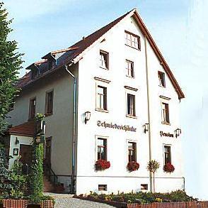 Dresden Klotzsche Gaststätte Pension Schmiedeschänke